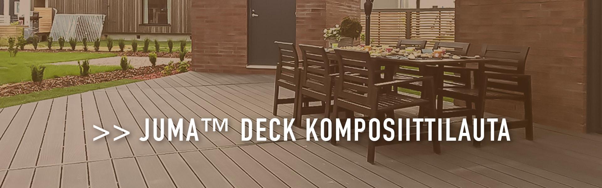 JUMA™ Deck komposiittilauta - patiot mittatilaustyönä
