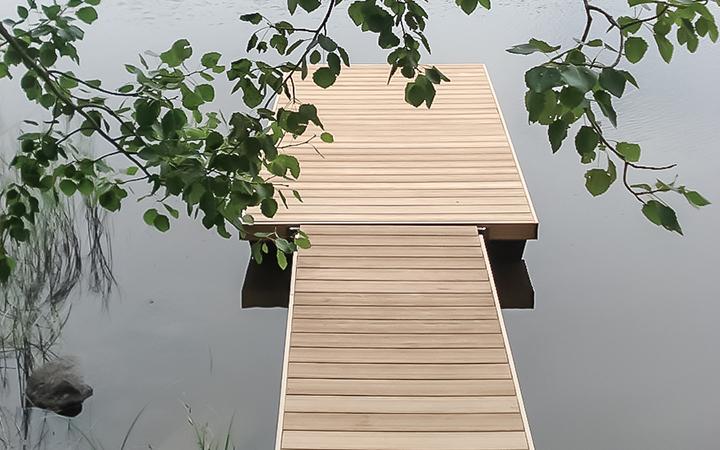 Juma Deck-komposiittilautalaiturit - Kesällä kelpaa nauttia.