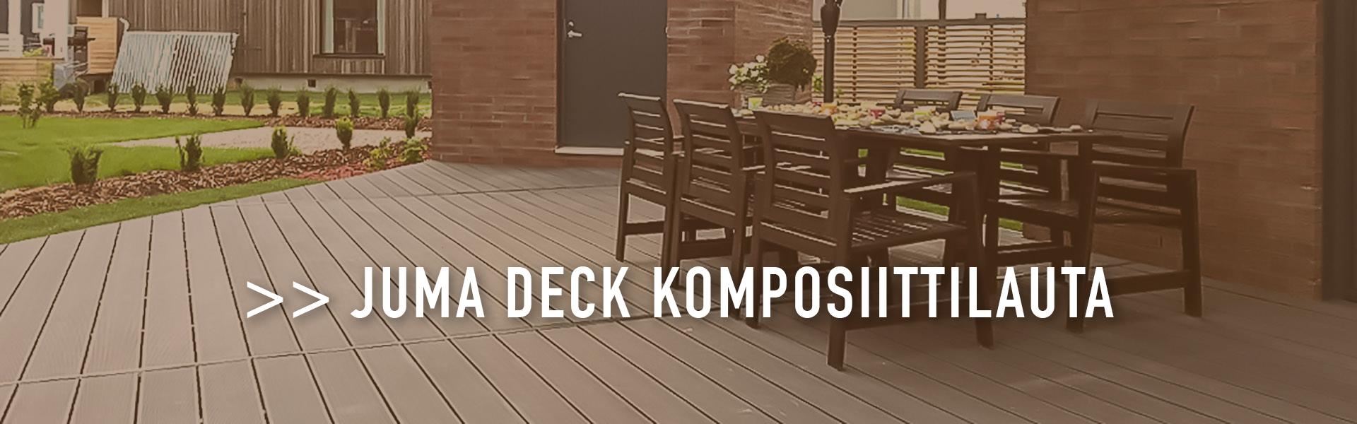 JUMA Deck komposiittilauta - terassit ja patiot mittatilaustyönä